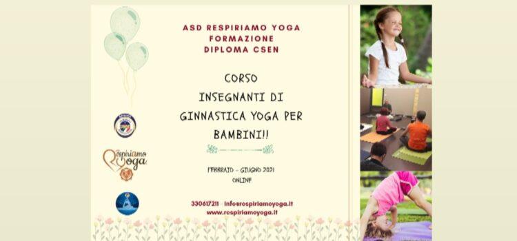Corso per Insegnanti di Ginnastica Yoga per Bambini